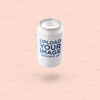 Mockup of a Soda Can Floating in a Customizable Backdrop 665-el