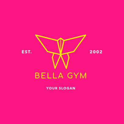 Minimalist Logo Maker for a Gym with an Origami Butterfly 2457h-2477