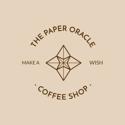Logo Maker with an Origami Figure for a Coffee Shop 950f-2477