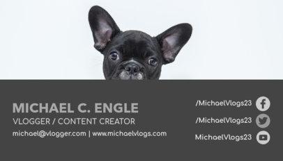 Business Card Design Maker for a Dog Vlog 118a