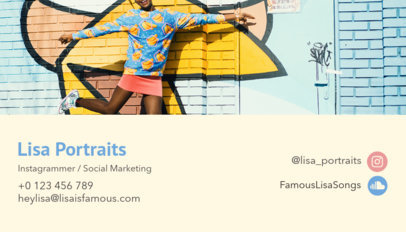 Business Card Design Maker for a Social Marketing Expert 118b
