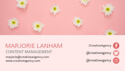 Content Manager Business Card Template 118d