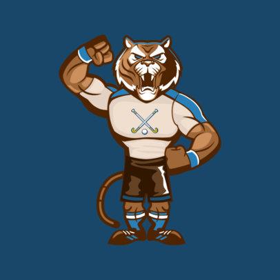 Mascot Maker Featuring an Aggressive Tiger 2381a