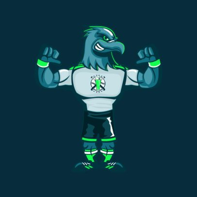 Sports Mascot Maker of an Eagle Showing His Muscles 2381c