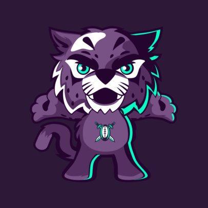 Sports Mascot Maker Featuring a Wildcat 2381f