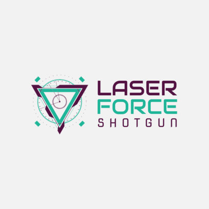 Futuristic-Style Gaming Logo Maker with a Triangular Graphic 2470a