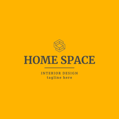 Interior Designer Logo Creator Featuring an Abstract Shape 1330h-2476
