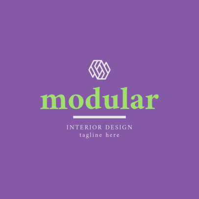 Abstract Logo Generator for an Interior Designer 1330i-2476