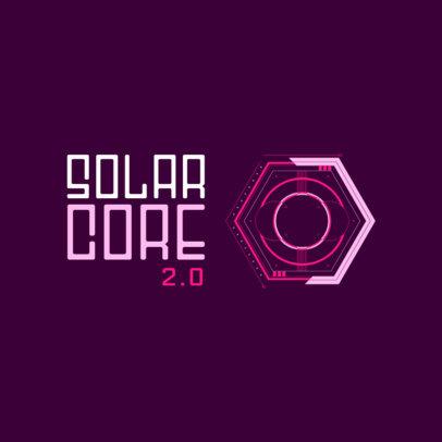 Futuristic Gaming Logo Maker with a Hexagonal Clipart 2470d