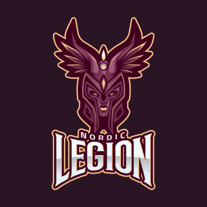 Logo Generator for DOTA 2 Gamers with a Valkyrie Clipart 2486r