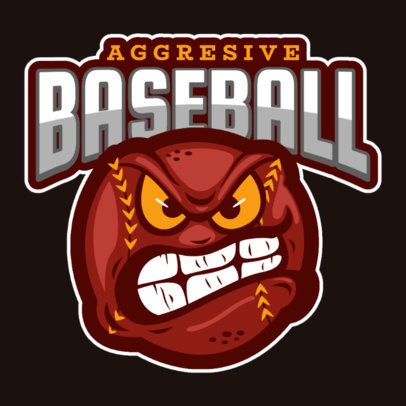 Gaming Logo Template Featuring an Aggressive Baseball Ball 120i 2469