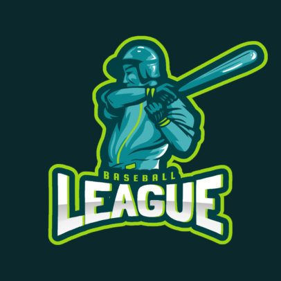 Logo Generator for a Baseball League with a Batter Graphic 172d 2469