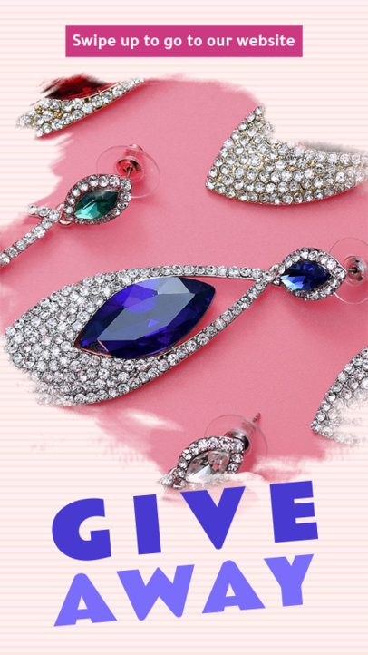 Instagram Story Template for a Jewelry Giveaway 593b--1762