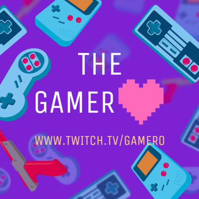 Gamers Instagram Post Generator with a Pixeled Heart Graphic 564q 1698