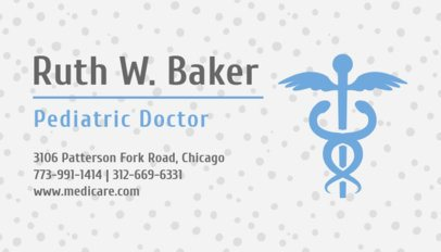 Pediatrician Business Card Maker with Medical Symbol 336b-1903