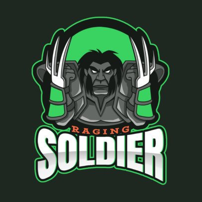 Logo Generator Inspired in DOTA 2 Featuring a Fierce Soldier 2499gg