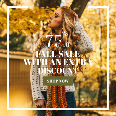Fall Discount Online Banner Maker 362h-1770
