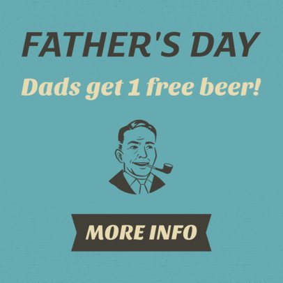 Online Banner Maker for a Father's Day Promo 16612f--1762