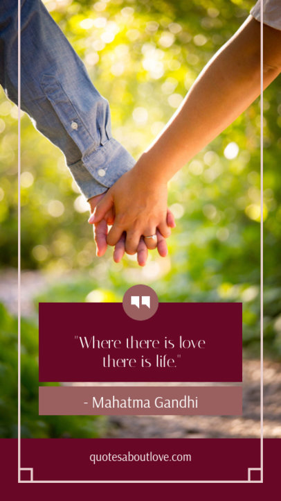Valentine's Day Instagram Story Maker for a Cute Quote 1045d