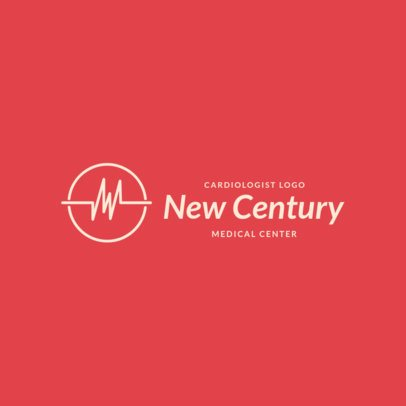 Minimalist Logo Template For a Heart Medical Center 2510a