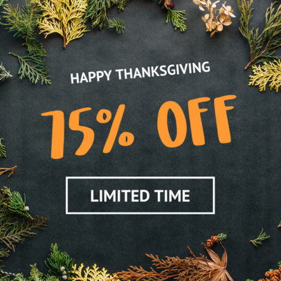 Online Banner Maker for a Special Thanksgiving Sale 290f-1770