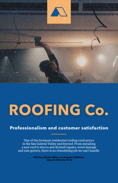 Roofing Company Flyer Template 739c-1819