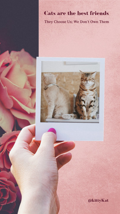 Insta Story Maker with Cute Cat Images 945e--1762
