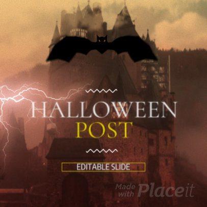 Instagram Video Maker with a Dark Halloween Theme 1866