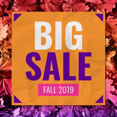 Online Banner Maker for a Big Fall Sale 546j-1770