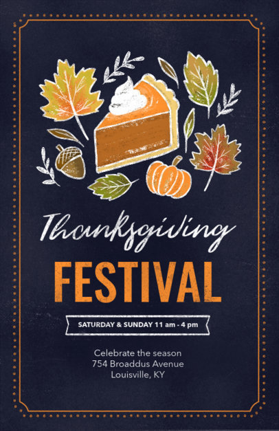 Flyer Maker for a Thanksgiving Festival 256f-1767