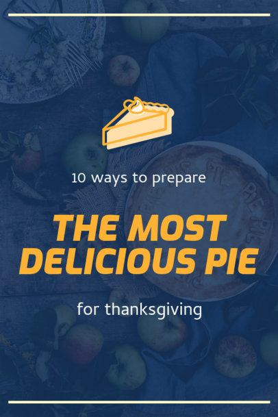 Pinterest Pin Template for Thanksgiving Pie Recipes 1768d