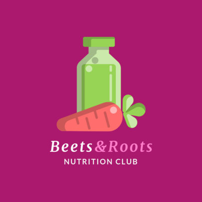 Nutritionist Logo Generator with 2D Veggie Illustrations 2536c