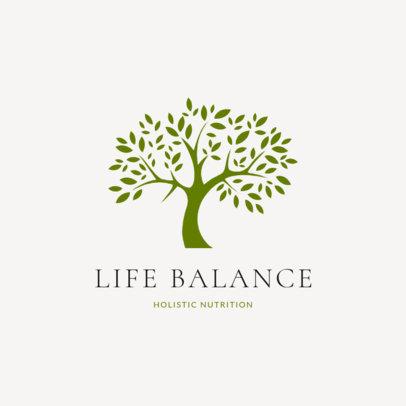 Nutritionist Logo Generator Featuring a Monochromatic Tree Illustration 2536g