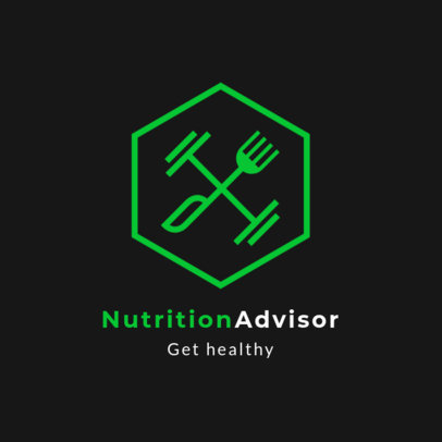 Nutritionist Advisor Logo Maker Featuring a Balanced and Healthy Icon 2536m