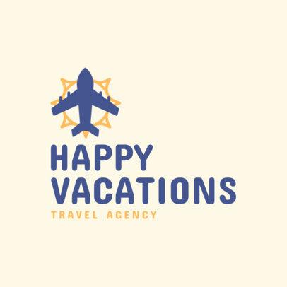 Travel Agency Logo Creator for Happy Travelers 2504j