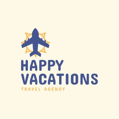 Travel Agency Logo Creator for Happy Travelers 2504j