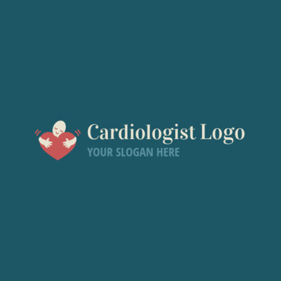 Cardiologist Logo Template with a Cute Graphic 2509c