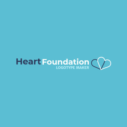 Logo Maker for a Foundation Featuring Two Hearts 2509f