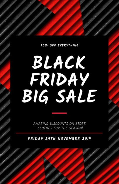 Flyer Template for a Black Friday Big Discount 238h 1785b
