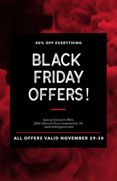 Flyer Maker for Black Friday Offers with a Bold Design 238j 1785d