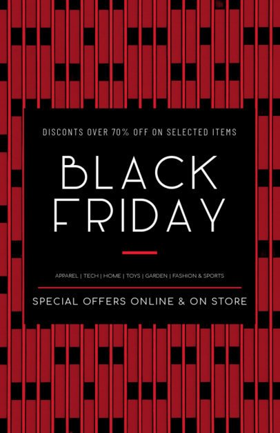 Flyer Template Promoting Black Friday Major Discounts 238k 1785e