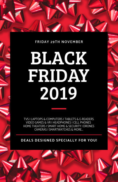 Black Friday Flyer Generator Featuring Gift Ribbons 238l 1785f