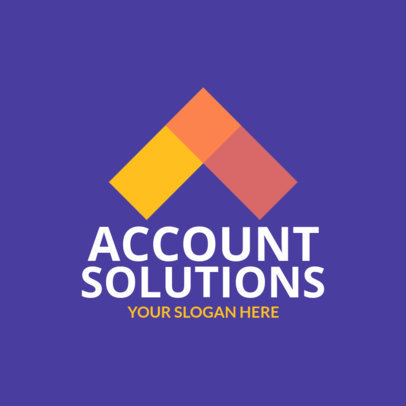 Account Solutions Logo Maker Featuring Geometric Shapes
