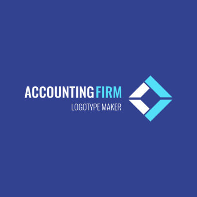 Logo Maker for an Accounting Firm Featuring a Geometric Graphic