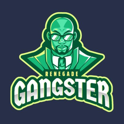 Logo Maker of a Gangster Inspired in Grand Theft Auto 2507i