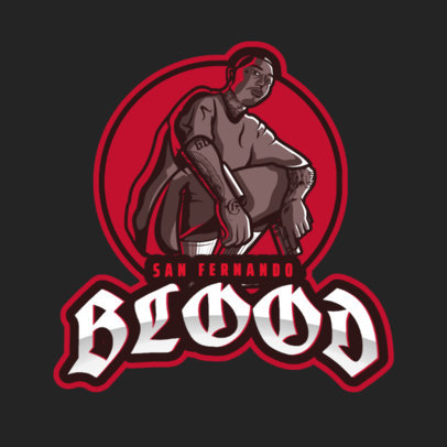 GTA-Themed Logo Creator with a Tattooed Man Graphic 2507k