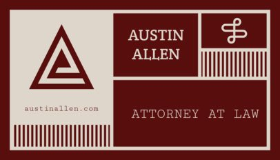 Attorney Business Card Maker 47c-1819