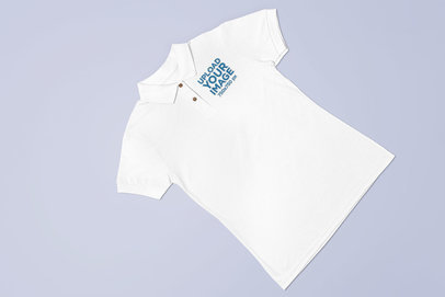 Polo Shirt Mockup over a Flat Surface 28925