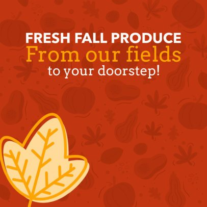 Social Media Post Design Template with a Fall Pumpkins Theme 563p-1765