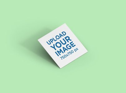 Mockup of a Square Business Card Render with a Customizable Background 285-el